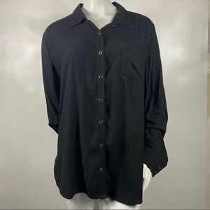 3 For$20 White Stag Button Down Blouse Black S: 2X